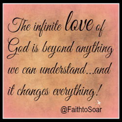 The infinite love of God