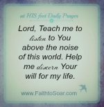 Lord, Teach me to listen