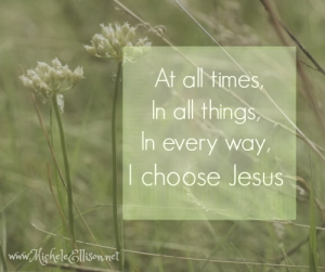 Choose Jesus, live free